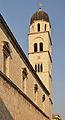 2011 Dubrownik, Wieża kościoła Franciszkanów..jpg