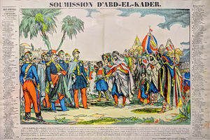 Emir Abdelkader - Artistic representation of Abd al-Qadir's surrender in 1847