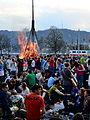 2013 Sechseläuten - Böögg danach - Utoquai-Uetliberg - Sechseläutenplatz 2013-04-15 19-43-31.JPG