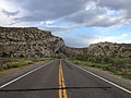 2014-07-18 18 44 46 View east along U.S. Route 6 about 123 miles east of the Esmeralda County Line in Nye County, Nevada.JPG