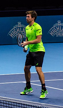 2014-11-12 2014 ATP World Tour Finals Alexander Peya at net by Michael Frey.jpg