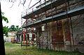 2014 giu Villa Pellegrini Marioni Pullè, Chievo, Verona, photo Paolo Villa facade, Doric - Tuscan order, porch, wings, pilaster strip, triangualar tympanum, door, window, corbel, tubular iron balcony FOTO6312BIS.JPG