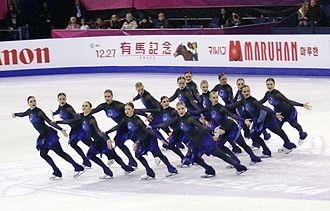 Rockettes (synchronized skating team) - Image: 2015 Grand Prix of Figure Skating Final Team Rockettes IMG 9164