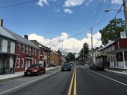 2016-07-29 16 38 37 View east along U.S. Route 40 Alternate (Baltimore Street) between Westside Avenue and Antietam Street in Funkstown, Washington County, Maryland.jpg