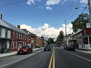 Funkstown, Maryland - Image: 2016 07 29 16 38 37 View east along U.S. Route 40 Alternate (Baltimore Street) between Westside Avenue and Antietam Street in Funkstown, Washington County, Maryland