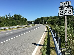 Maryland Route 228 - View east along MD 228 near MD 229 near Bennsville