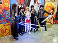 2016TICA Day 5, Cosplayers of Sword Art Online in Front of Muse Communication Booth 20160214.jpg