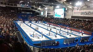 2016 Tim Hortons Brier - Draw 7 action.