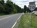 2017-06-25 12 03 20 View east along Virginia State Route 210 (Old Town Connector) at Virginia State Route 163 (Amherst Highway) in Madison Heights, Amherst County, Virginia.jpg