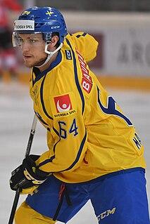Eric Martinsson Swedish ice hockey player