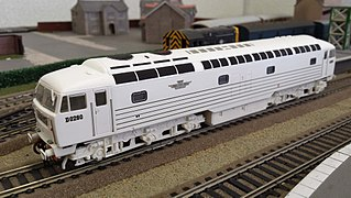"""British Rail D0260 prototype diesel-electric locomotive built by BRCW & AEI and named """"Lion"""""""