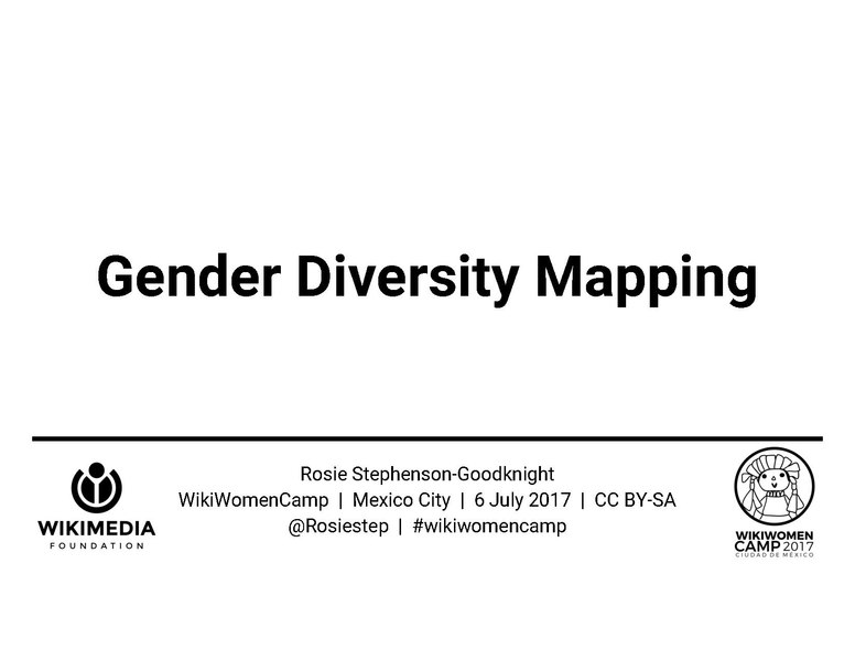 File:2017 WikiWomenCamp plenary - Gender Diversity Mapping.pdf