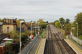 2017 at Ashchurch station - view northwards.JPG