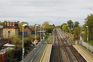 Ashchurch for Tewkesbury railway station Railway station in Gloucestershire, England