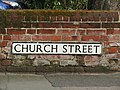 2018-04-06, Street name sign, Church Street, Sheringham.JPG
