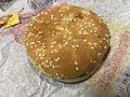 2019-02-28 21 45 05 A Burger King cheeseburger in Oak Hill, Fairfax County, Virginia.jpg