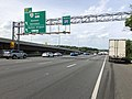 2019-05-29 16 27 11 View north along the inner loop of the Capital Beltway (Interstate 495) at Exit 45 (Virginia State Route 267 West, Reston, Herndon, Dulles Airport) in Tysons Corner, Fairfax County, Virginia.jpg