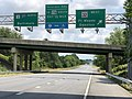 2020-06-22 12 04 47 View north along Maryland State Route 3 (Robert Crain Highway) at the exit for Maryland State Route 32 WEST (Odenton, Fort Meade) in Gambrills, Anne Arundel County, Maryland.jpg