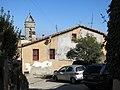 211 Mas Vell (Premià de Dalt), torrent del Fondo 24, amb el campanar de Sant Pere al fons.jpg
