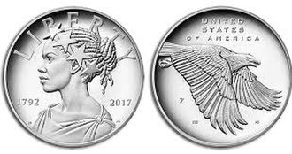 American Liberty 225th Anniversary Coin - Image: 225th An Silver Medal