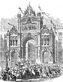 25e anniversaire de l'inauguration du roi Léopold Ier, Place royale, juillet 1856.jpg