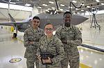 33rd FW nondestructive inspection Airmen inspect F-35 160516-F-MT297-125.jpg