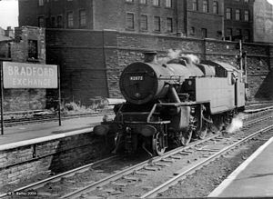 Bradford Interchange - LMS Fairburn 2-6-4T 42072 at Bradford Exchange, 1966-67
