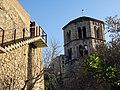 433 Tram de la muralla i campanar de Sant Pere de Galligants (Girona).JPG