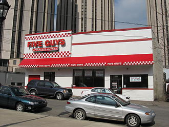 Five Guys - A Five Guys restaurant in Pittsburgh