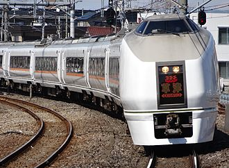 Kusatsu (train) - A 651-1000 series EMU on a Kusatsu service, March 2014