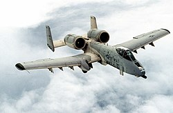 A Fairchild Republic A-10A Thunderbolt II assigned to the 81st Tactical Fighter Wing, which was based at RAF Bentwaters between 1951 and 1993.