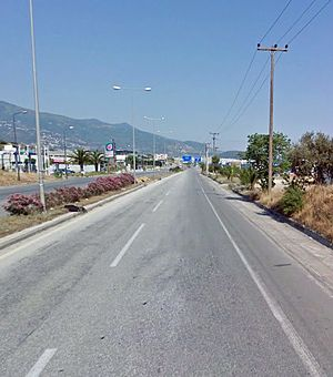 A12 before the interchange with Volos Beltway.jpg