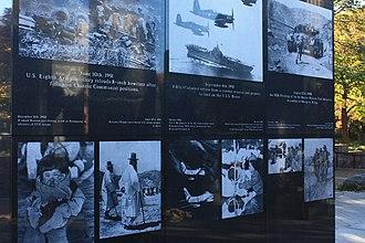 Philadelphia Korean War Memorial - Image: A403, Philadelphia Korean War Memorial, south image panel, from the northeast