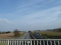 A64 à Lescar sens Pau-Toulouse.JPG