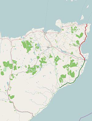 A99 road - Image: A99 road map