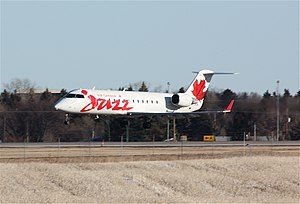 Regina International Airport - Jazz Bombardier CRJ200 landing