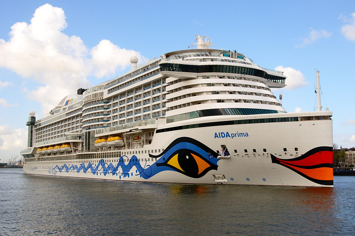 AIDAprima Wikipedia - How heavy is a cruise ship