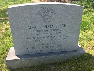 Alva R. Fitch - Grave site of Alva R. Fitch at Arlington National Cemetery