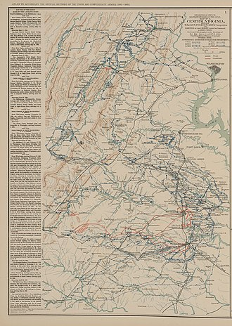 Overland Campaign - Union cavalry operations in Central Virginia (1864–65).