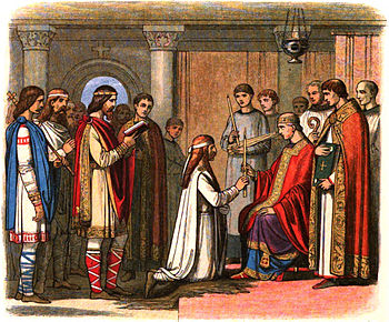 King Guthorm is baptised.