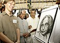 A Singaporean fine arts student of SIFAS presented a sketch of the President's portrait to Dr. A.P.J. Abdul Kalam on 3 February 2006. The artist is seen in president's left.jpg