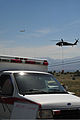 A U.S. Army UH-60 Black Hawk helicopter, right, assigned to the Colorado Army National Guard provides firefighting assistance for the Black Forest Fire in El Paso County, Colo., June 12, 2013 130612-Z-WF656-026.jpg