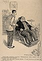 A dentist encounters a large, violent patient. Reproduction Wellcome V0011507.jpg