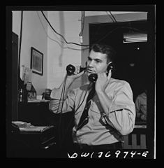 A dispatcher in the Greyhound garage 8d32802v.jpg