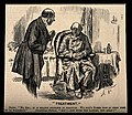 A doctor telling a miserable hypochondriac patient that bloo Wellcome V0011564.jpg