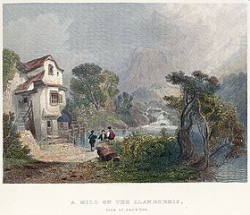 A mill on the Llanberis: side of Snowdon