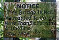 A notice on Netherby Bridge at the River Esk - geograph.org.uk - 1577824.jpg