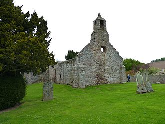 Abdie - The ruins of the old Abdie parish church, near the shore of Lindores Loch