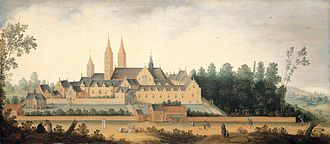 Egmond Abbey - A view of Egmond Abbey, by Claes Dircksz van der Heck in 1638.
