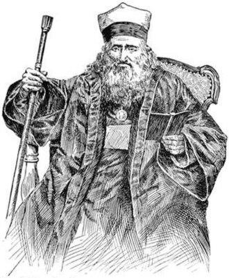 Abraham Firkovich - Abraham Firkovich, date unknown. From the 1901-1906 Jewish Encyclopedia.